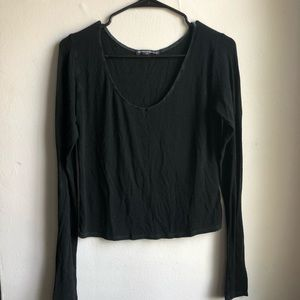 Long Sleeve Black Brandy Melville Tee